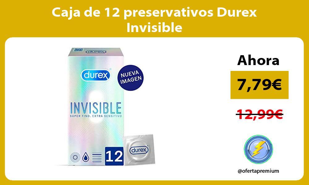 Caja de 12 preservativos Durex Invisible