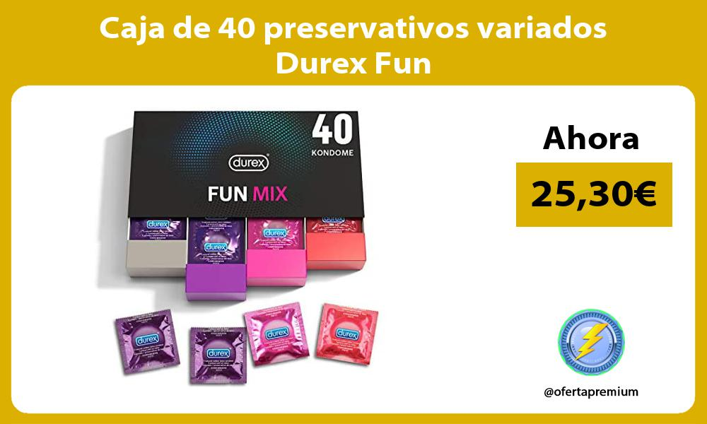 Caja de 40 preservativos variados Durex Fun