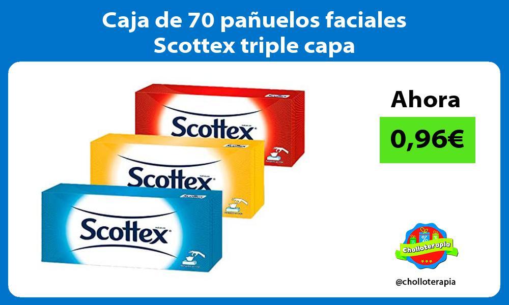 Caja de 70 pañuelos faciales Scottex triple capa
