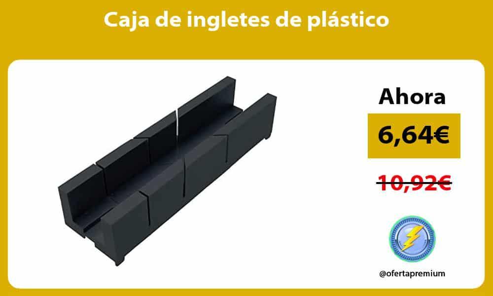 Caja de ingletes de plástico