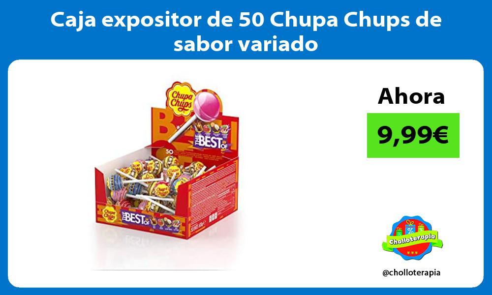 Caja expositor de 50 Chupa Chups de sabor variado