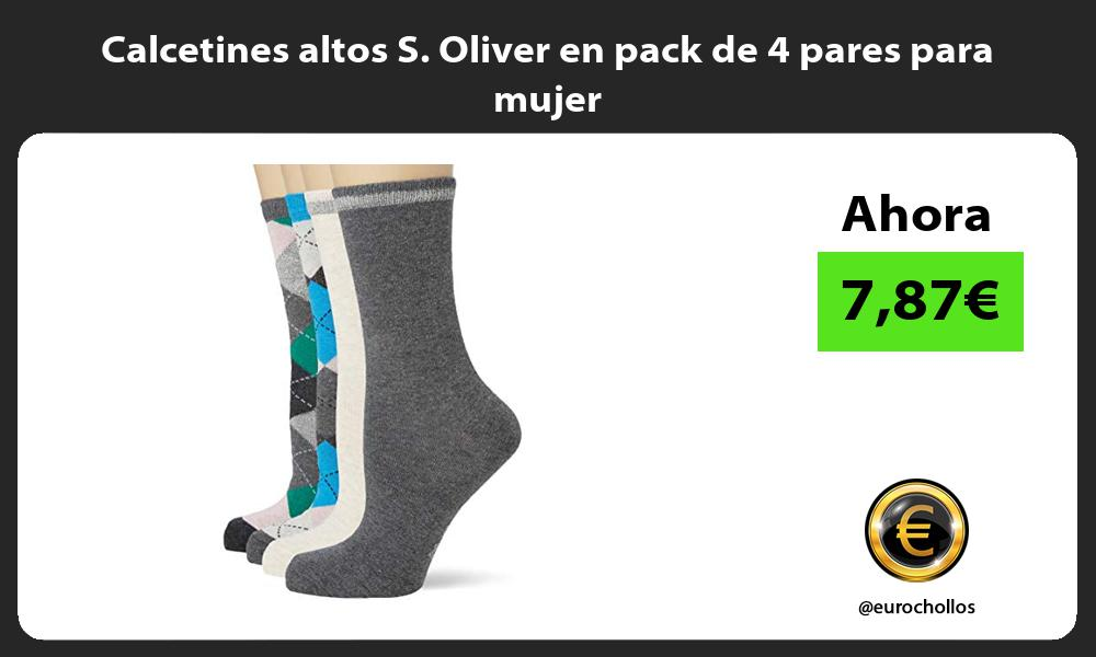 Calcetines altos S Oliver en pack de 4 pares para mujer
