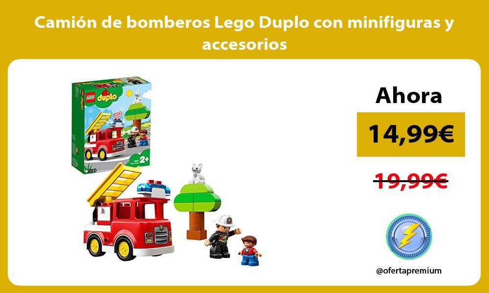 Camión de bomberos Lego Duplo con minifiguras y accesorios