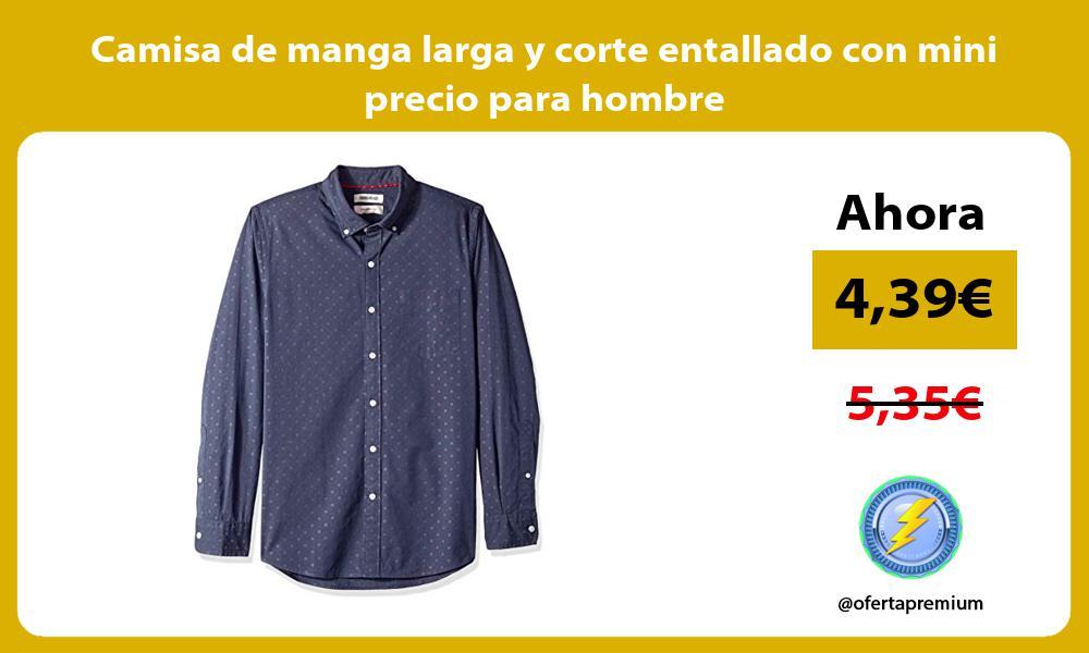 Camisa de manga larga y corte entallado con mini precio para hombre