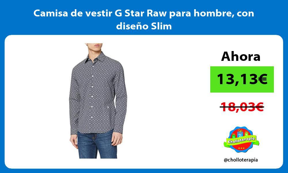 Camisa de vestir G Star Raw para hombre con diseño Slim
