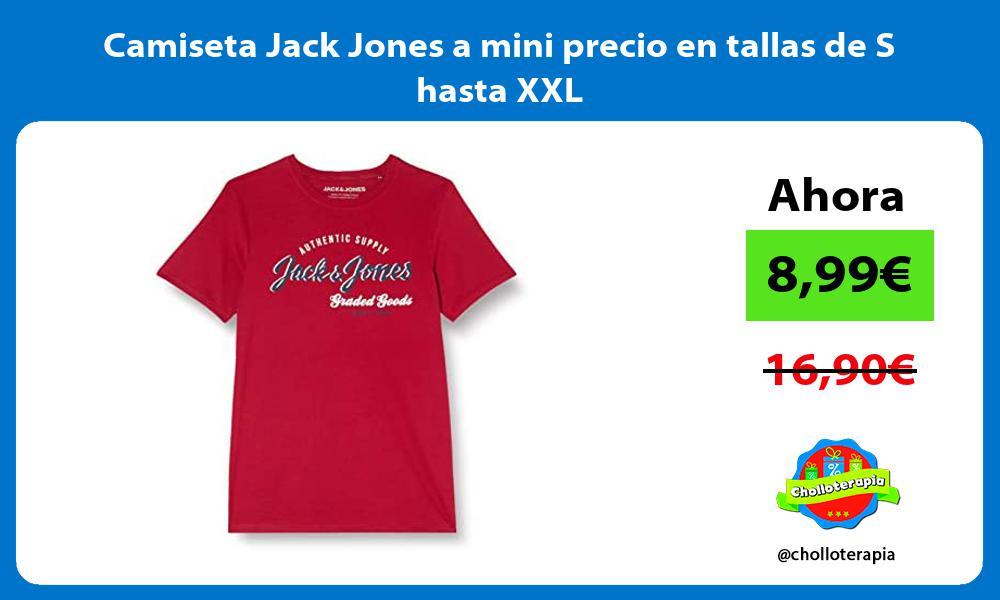 Camiseta Jack Jones a mini precio en tallas de S hasta XXL