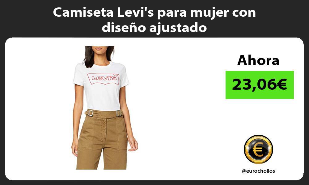 Camiseta Levis para mujer con diseño ajustado