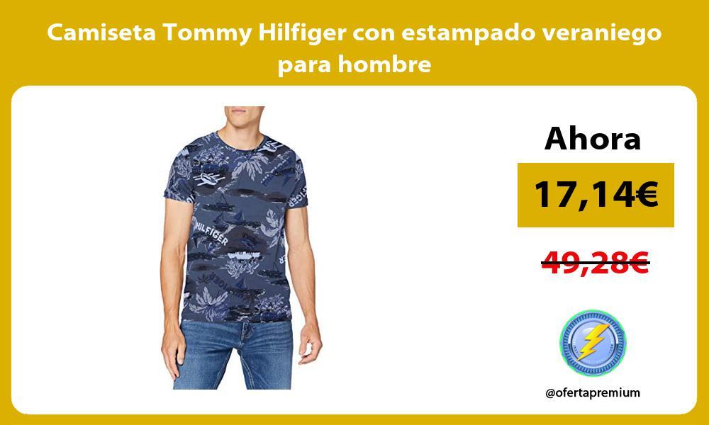 Camiseta Tommy Hilfiger con estampado veraniego para hombre
