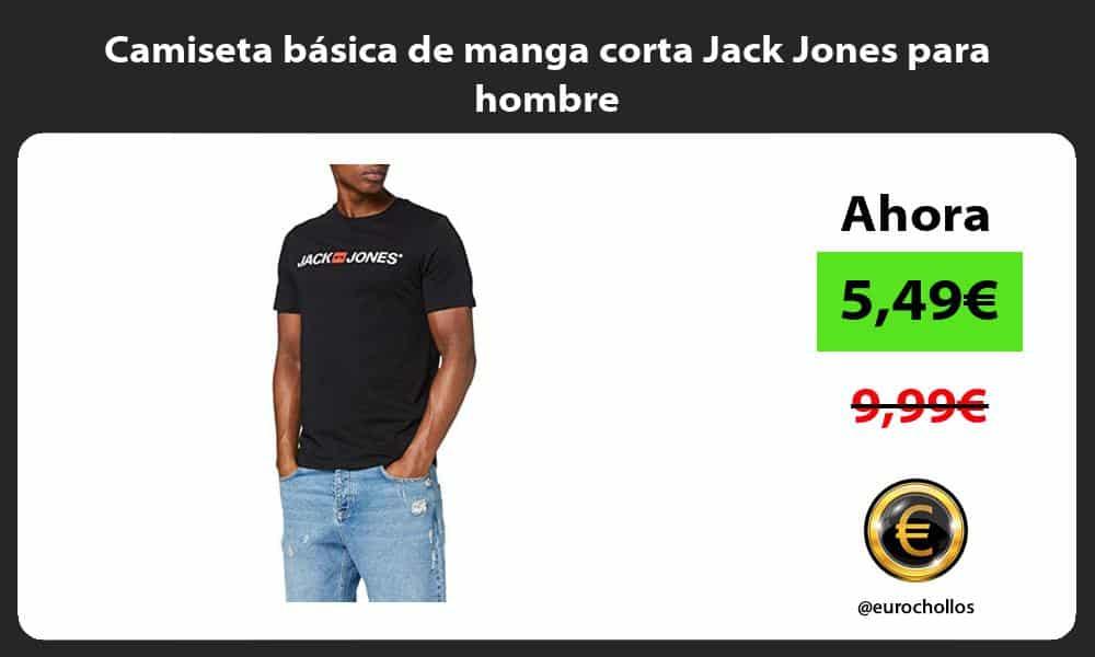Camiseta básica de manga corta Jack Jones para hombre