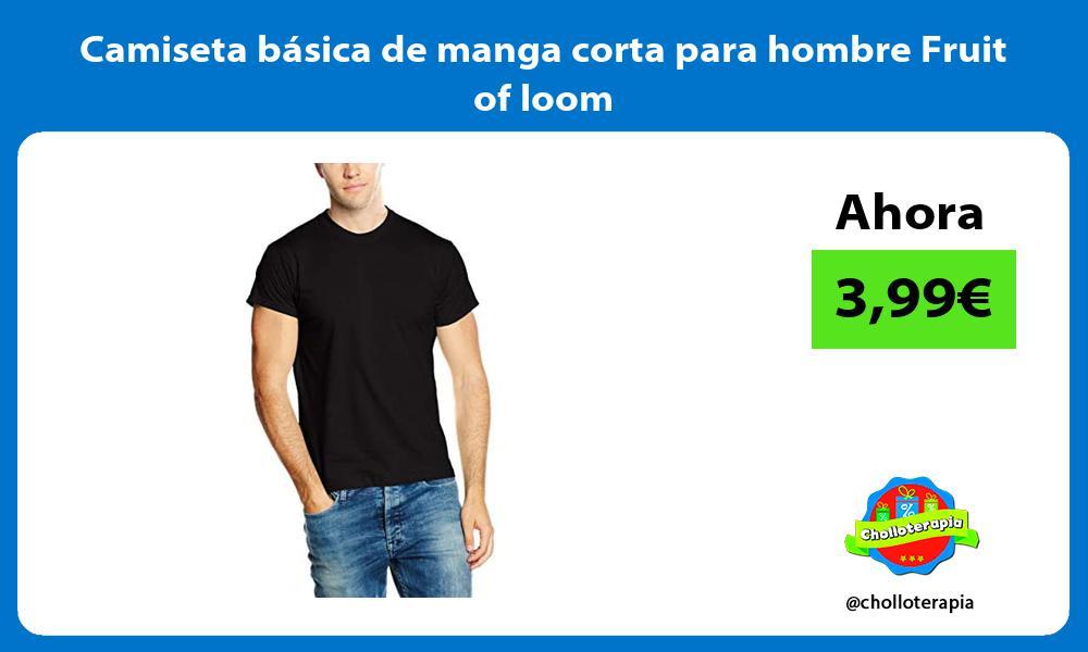 Camiseta básica de manga corta para hombre Fruit of loom