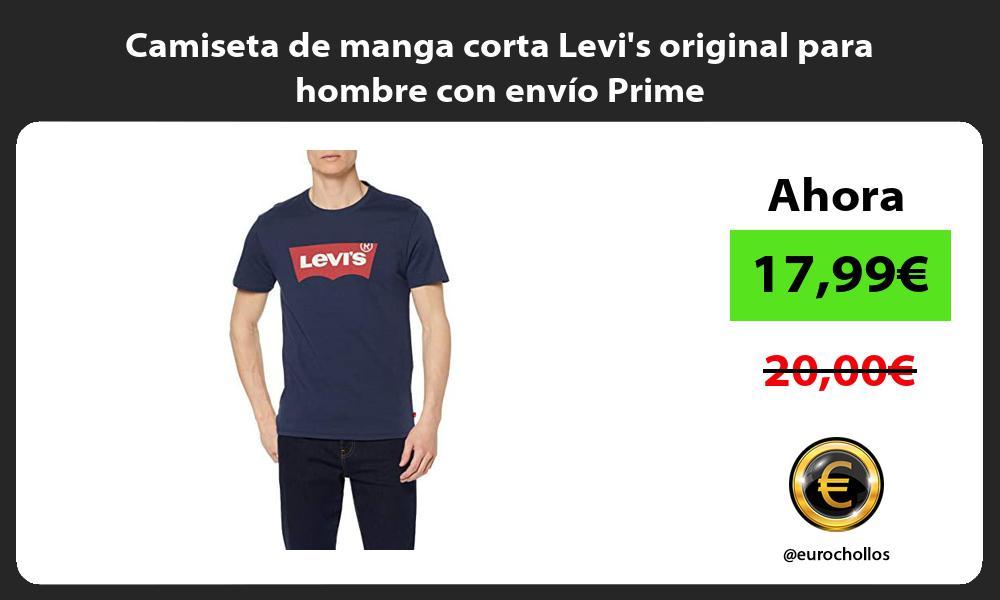 Camiseta de manga corta Levis original para hombre con envío Prime
