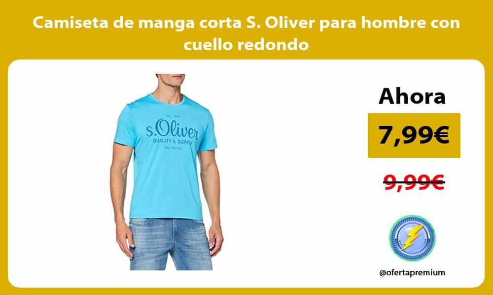 Camiseta de manga corta S Oliver para hombre con cuello redondo