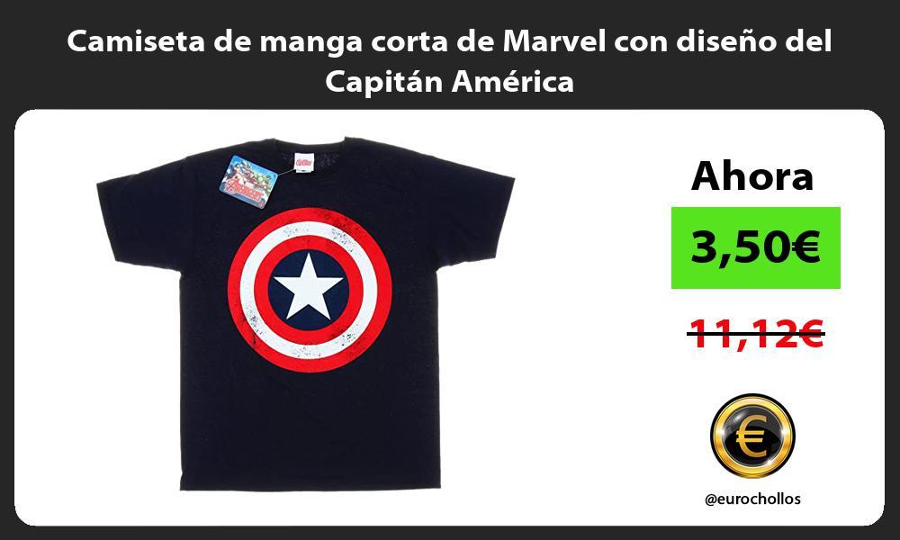 Camiseta de manga corta de Marvel con diseño del Capitán América
