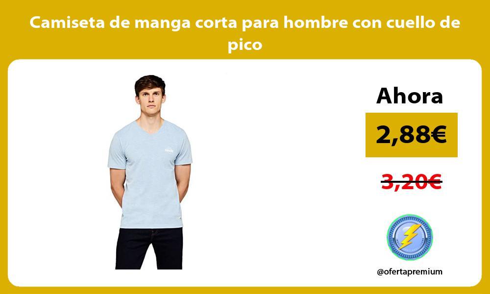 Camiseta de manga corta para hombre con cuello de pico