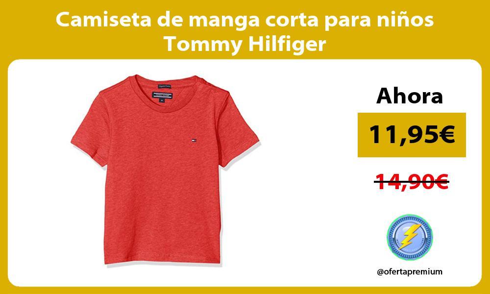 Camiseta de manga corta para niños Tommy Hilfiger