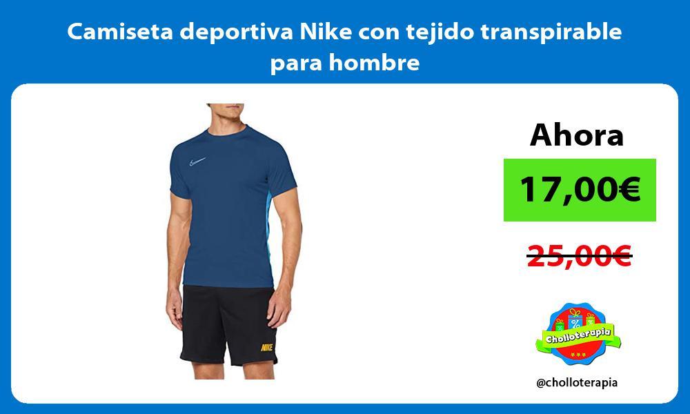 Camiseta deportiva Nike con tejido transpirable para hombre