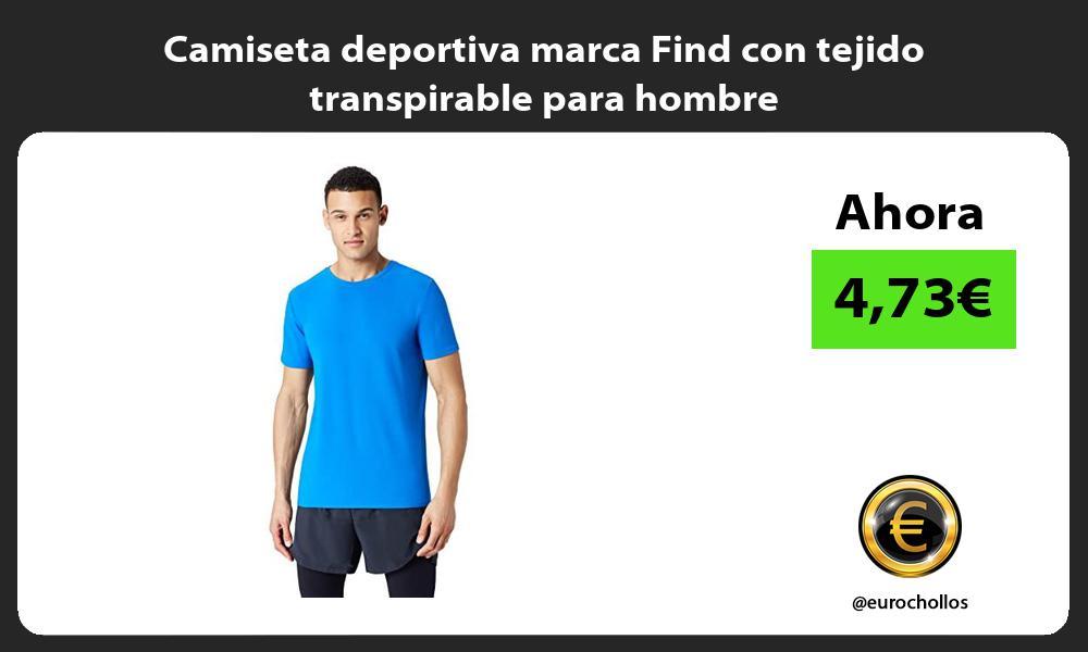 Camiseta deportiva marca Find con tejido transpirable para hombre