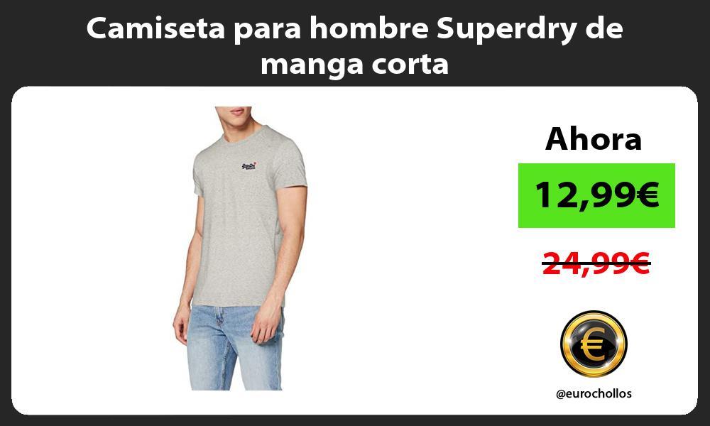 Camiseta para hombre Superdry de manga corta