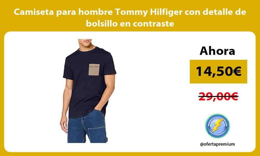 Camiseta para hombre Tommy Hilfiger con detalle de bolsillo en contraste