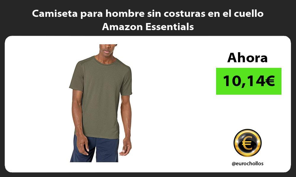 Camiseta para hombre sin costuras en el cuello Amazon Essentials