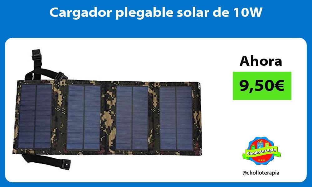 Cargador plegable solar de 10W