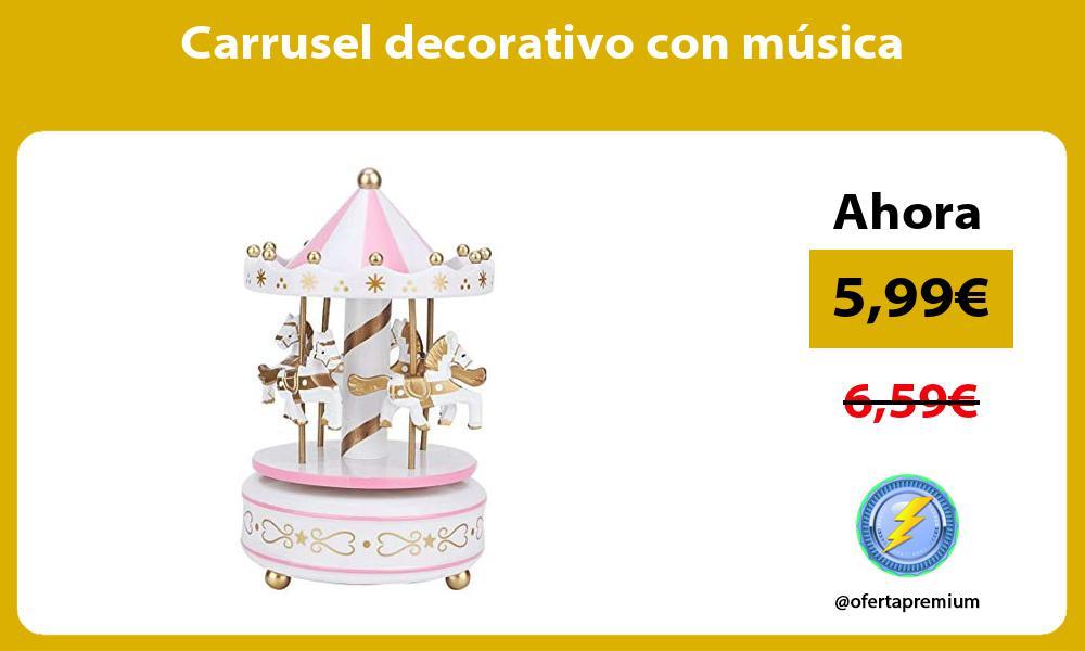 Carrusel decorativo con música