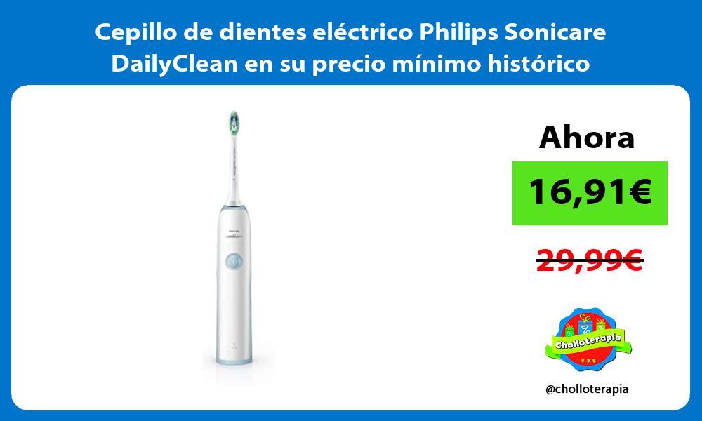 Cepillo de dientes eléctrico Philips Sonicare DailyClean en su precio mínimo histórico