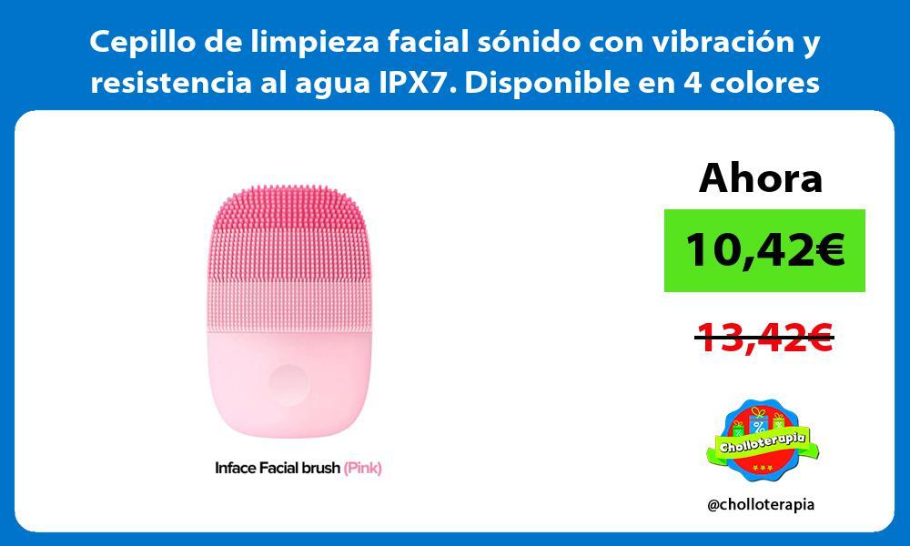 Cepillo de limpieza facial sónido con vibración y resistencia al agua IPX7 Disponible en 4 colores