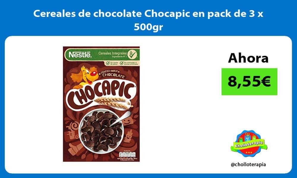 Cereales de chocolate Chocapic en pack de 3 x 500gr