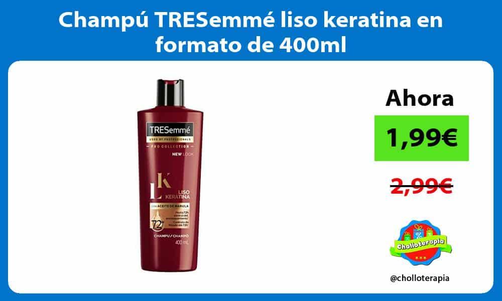 Champú TRESemmé liso keratina en formato de 400ml