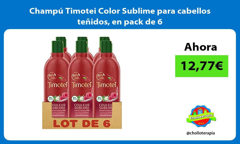 Champú Timotei Color Sublime para cabellos teñidos en pack de 6
