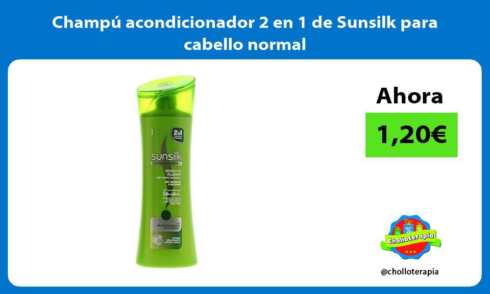 Champú acondicionador 2 en 1 de Sunsilk para cabello normal