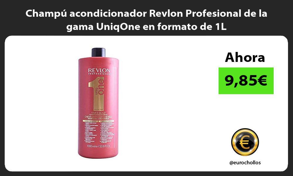 Champú acondicionador Revlon Profesional de la gama UniqOne en formato de 1L