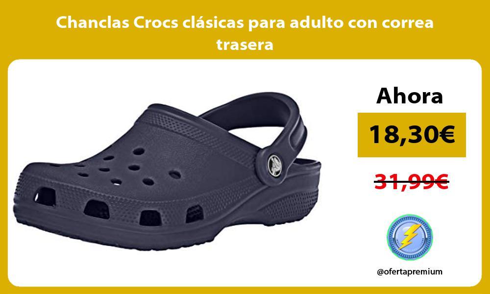 Chanclas Crocs clásicas para adulto con correa trasera