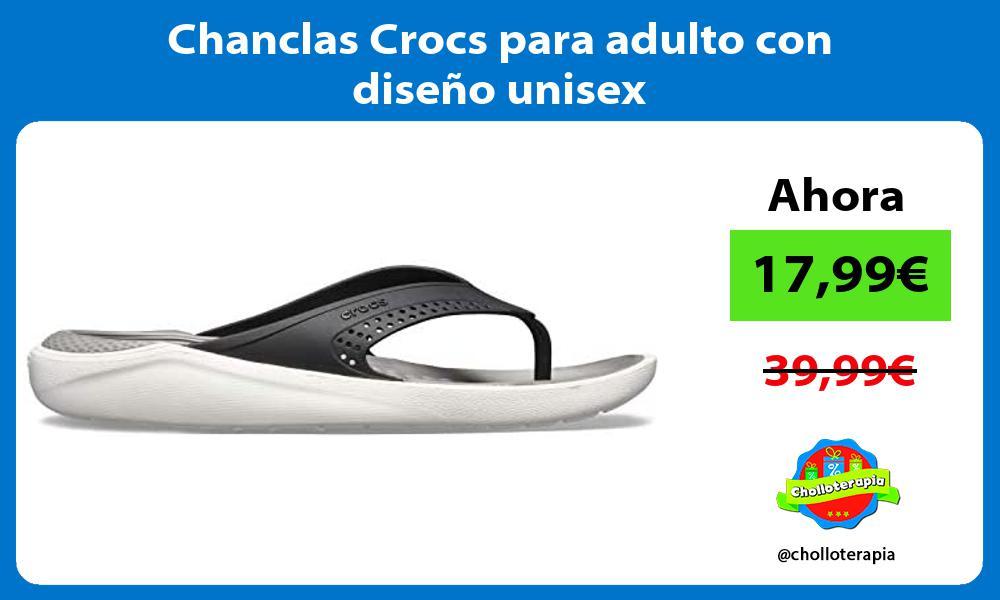Chanclas Crocs para adulto con diseño unisex