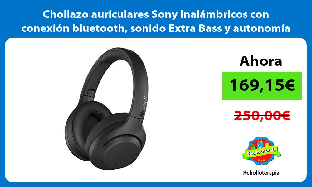 Chollazo auriculares Sony inalámbricos con conexión bluetooth sonido Extra Bass y autonomía de 30H