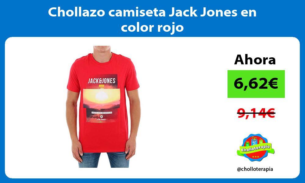 Chollazo camiseta Jack Jones en color rojo