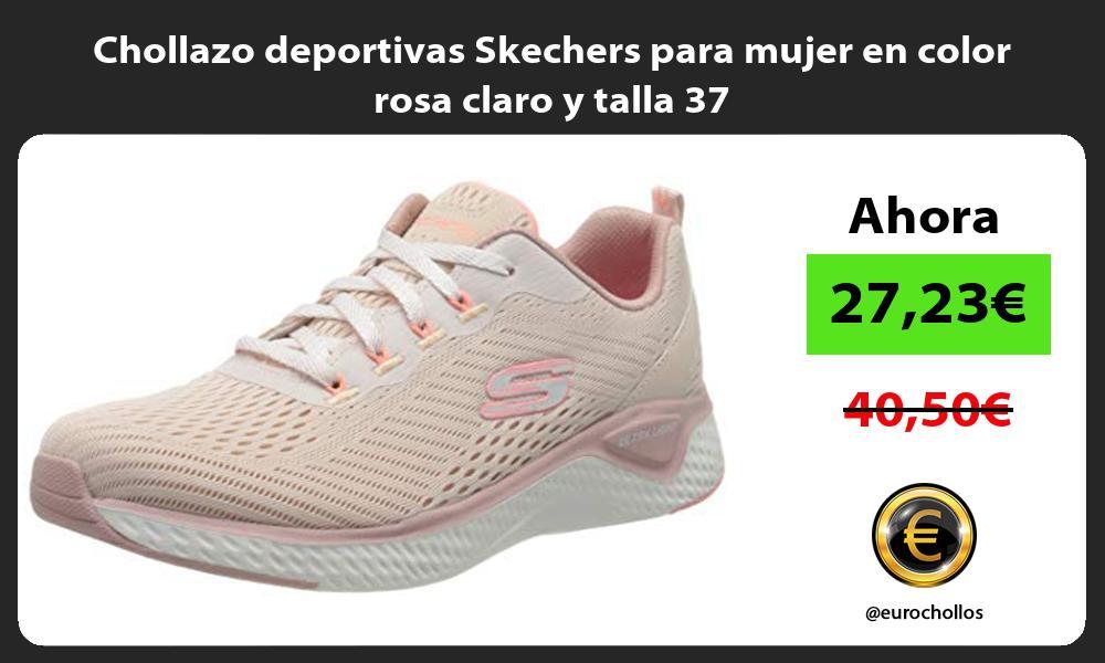 Chollazo deportivas Skechers para mujer en color rosa claro y talla 37