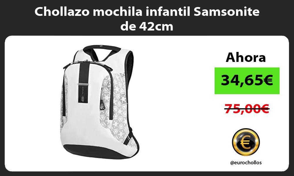 Chollazo mochila infantil Samsonite de 42cm