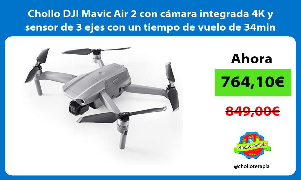 Chollo DJI Mavic Air 2 con cámara integrada 4K y sensor de 3 ejes con un tiempo de vuelo de 34min