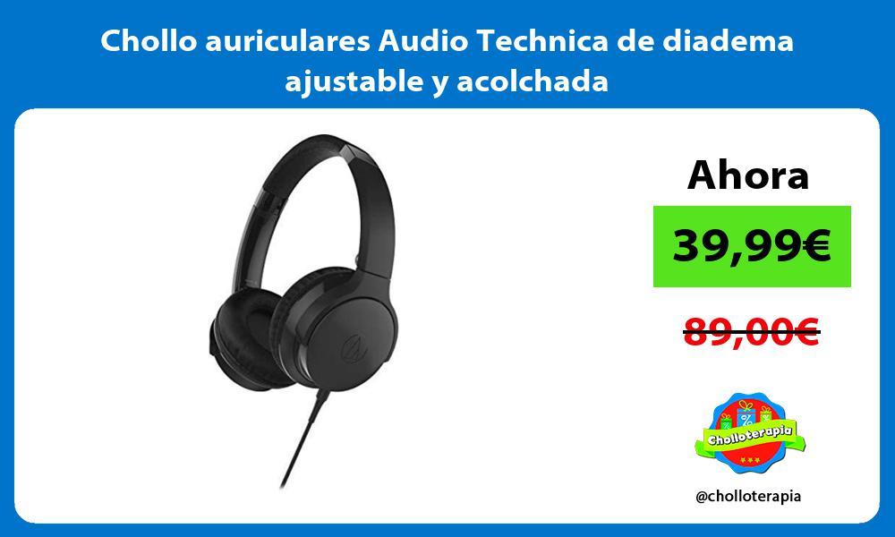 Chollo auriculares Audio Technica de diadema ajustable y acolchada