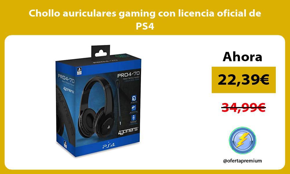 Chollo auriculares gaming con licencia oficial de PS4