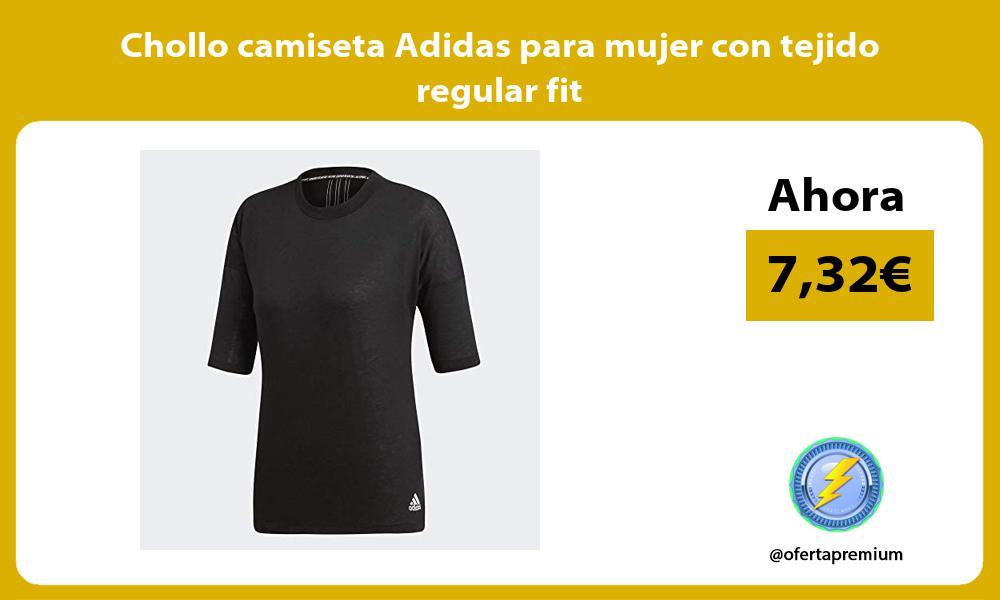 Chollo camiseta Adidas para mujer con tejido regular fit