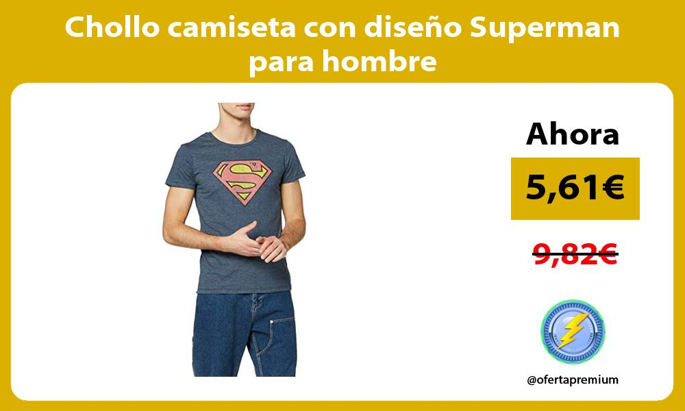 Chollo camiseta con diseño Superman para hombre
