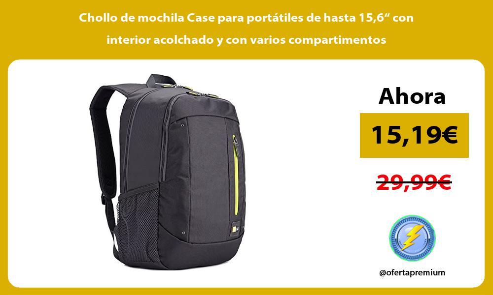 """Chollo de mochila Case para portátiles de hasta 156"""" con interior acolchado y con varios compartimentos"""