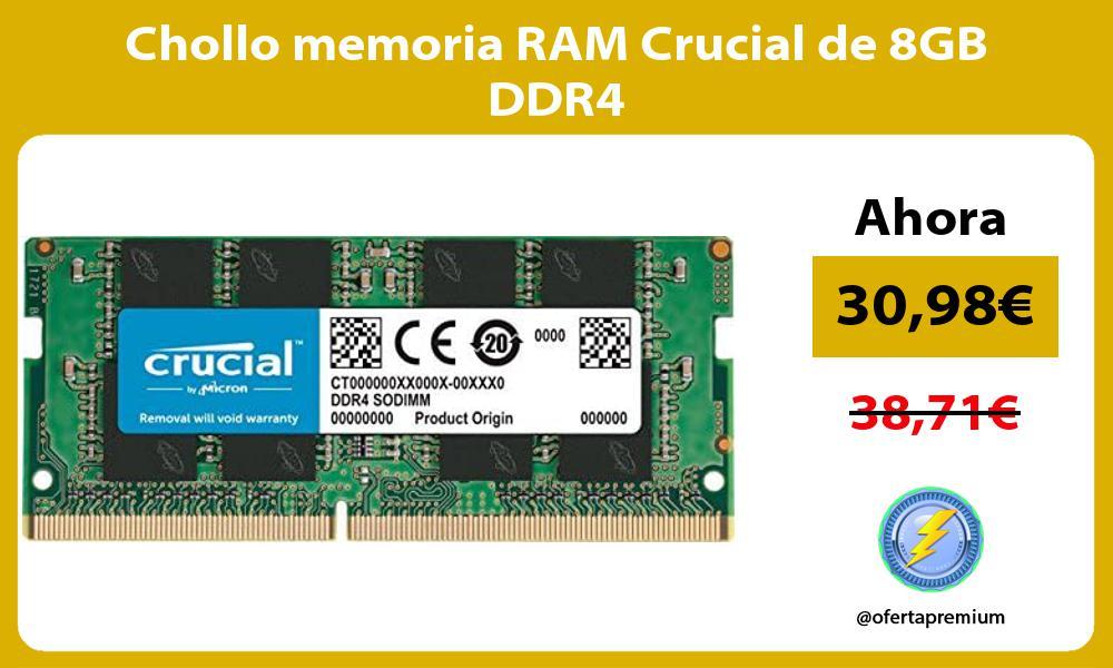 Chollo memoria RAM Crucial de 8GB DDR4
