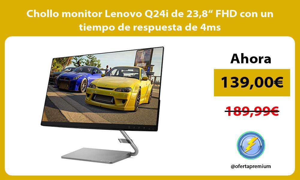 """Chollo monitor Lenovo Q24i de 238"""" FHD con un tiempo de respuesta de 4ms"""