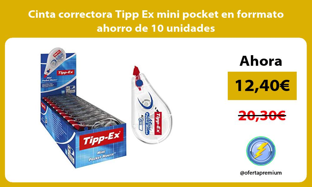 Cinta correctora Tipp Ex mini pocket en forrmato ahorro de 10 unidades