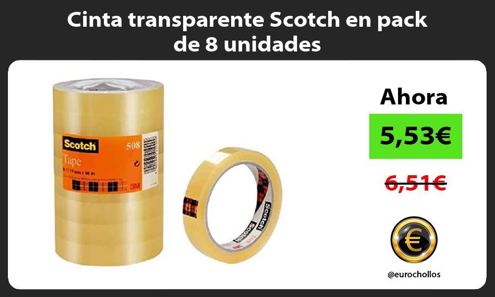 Cinta transparente Scotch en pack de 8 unidades