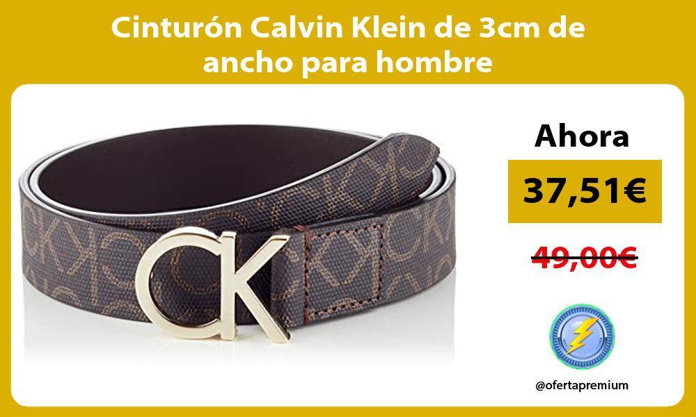 Cinturón Calvin Klein de 3cm de ancho para hombre